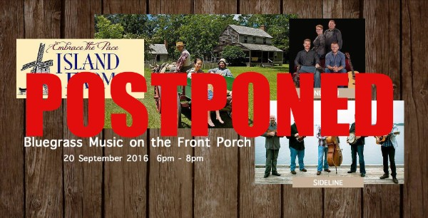 Bluegrass at Island Farm Postponed