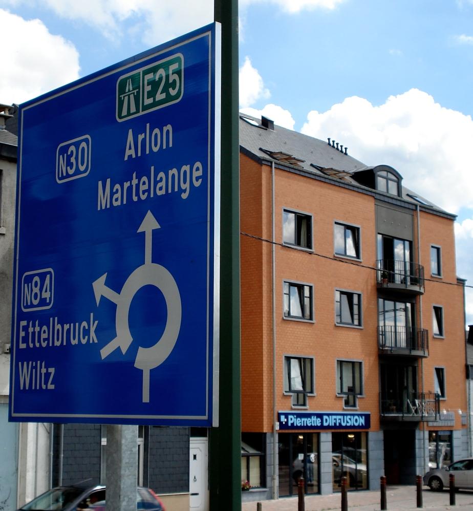 Traffic Sign in Bastogne, Belgium