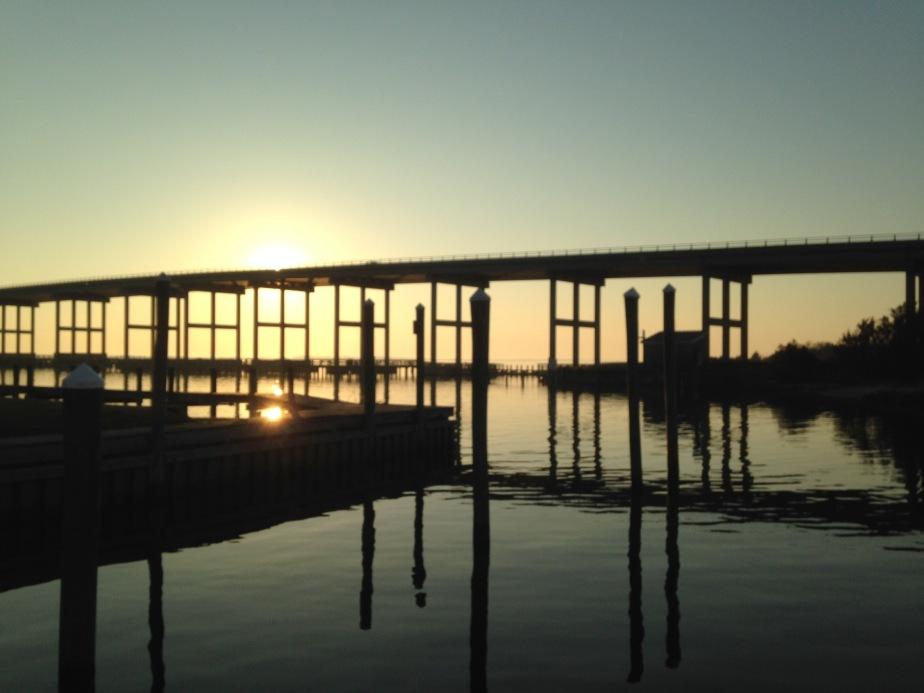 Pretty view at Pirate's Cove Marina