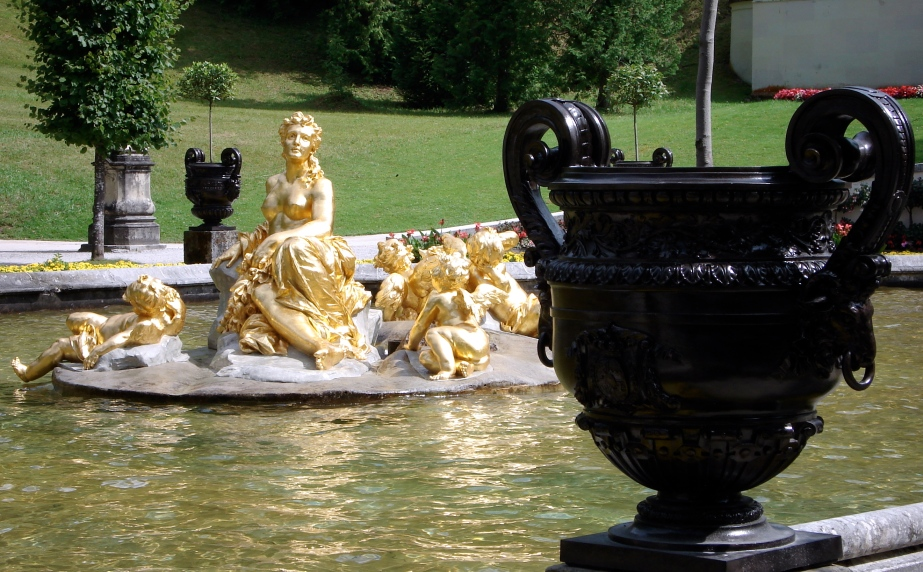 On the grounds of Linderhof Palace