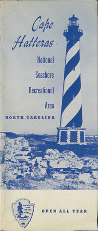 Cape Hatteras National Seashore Recreational Area 1954 Brochure